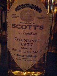 Glenlivet Scott's 1977 1