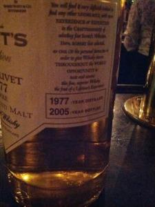Glenlivet Scott's 1977 2
