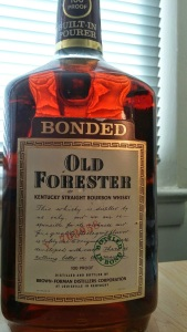 Old Forester Bottled in Bond 1980 1