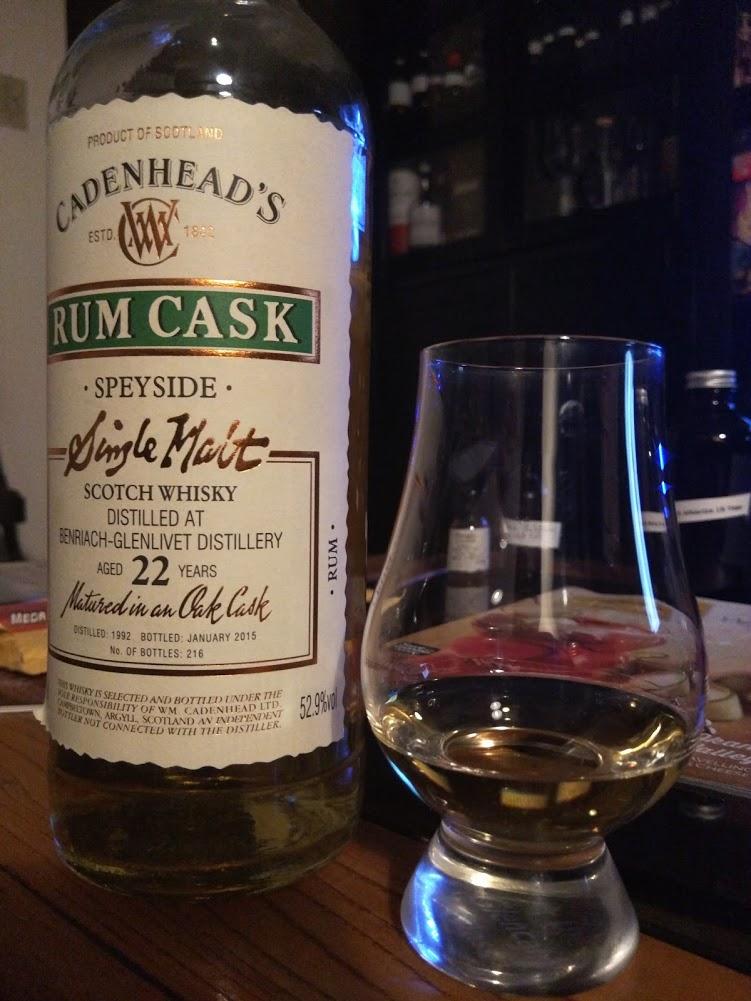 BenRiach Cadenhead 22 Rum Cask 1992.jpg