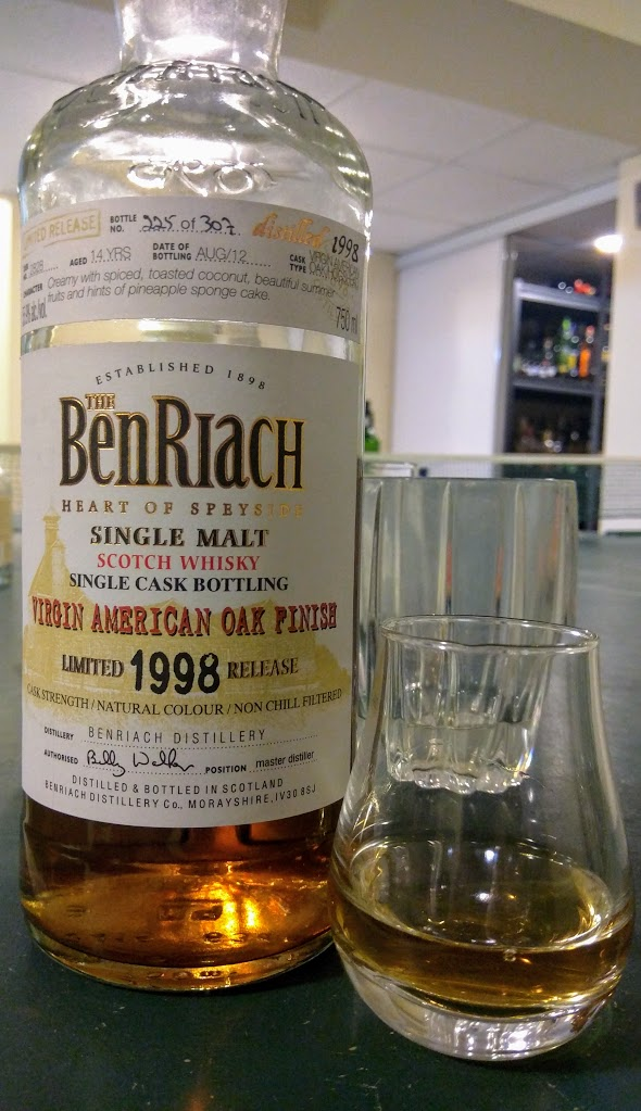 BenRiach 14 1998 Single Cask Virgin American Oak Finish.jpeg